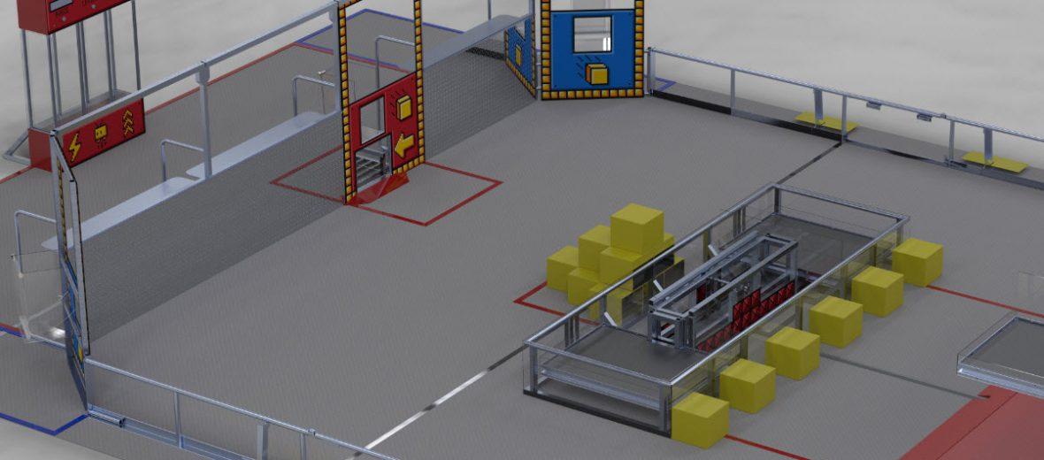 FIRST POWER UP Game Field Visulization
